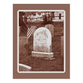 Carte Postale La pierre tombale de Washington Irving