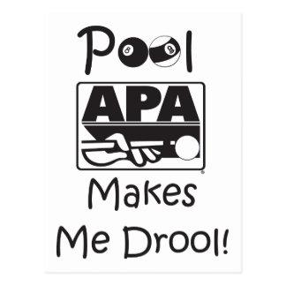 Carte Postale La piscine m'incite à radoter