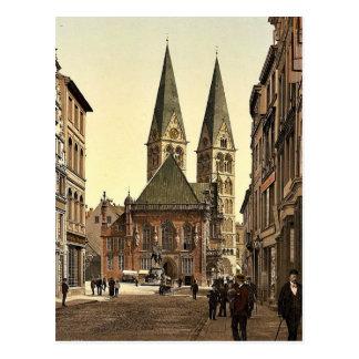 Carte Postale La place de William d'empereur, Brême, Allemagne P