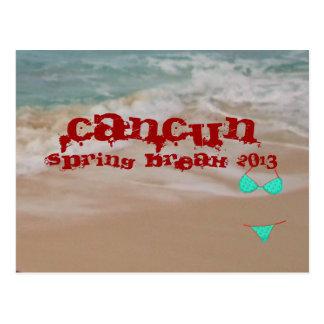 Carte Postale La plage de coupure de ressort de Cancun 2013