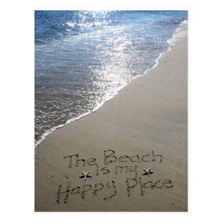 Carte Postale La plage est mon endroit heureux