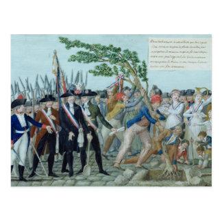 Carte Postale La plantation d'un arbre de la liberté, c.1789