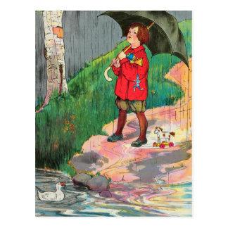 Carte Postale La pluie, pluie, partent, viennent encore un autre