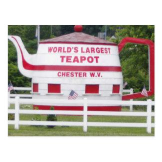 Carte Postale La plus grande théière du monde