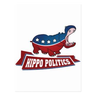 Carte Postale La politique d'hippopotame