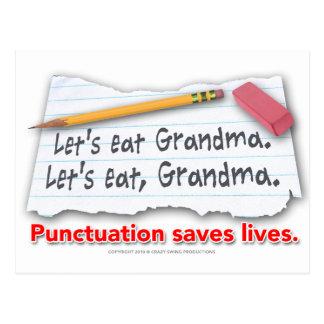 Carte Postale La ponctuation sauve les vies