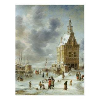 Carte Postale La porte de ville de Hoorn