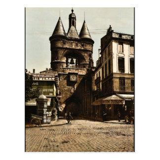 Carte Postale La porte d'horloge, cru Photochro de Bordeaux,