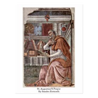 Carte Postale La prière de St Augustine par Sandro Botticelli