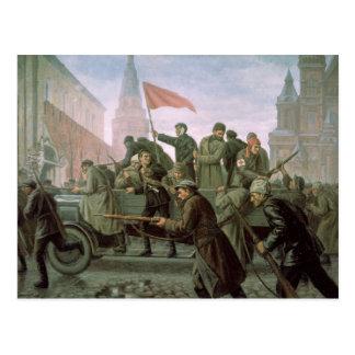 Carte Postale La prise de Moscou Kremlin en 1917, 1938