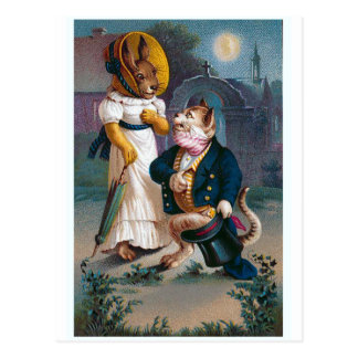 "Carte Postale ""La proposition"" Valentine vintage"