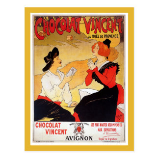 Carte Postale La publicité française vintage de chocolat