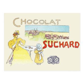 Carte Postale La publicité vintage de sucrerie de chocolat