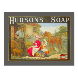 Carte Postale La publicité vintage, le savon du Hudson