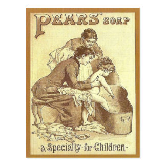 Carte Postale La publicité vintage, savon de poires