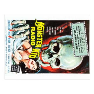Carte Postale La radio d'enfant de monstre rencontre le crâne