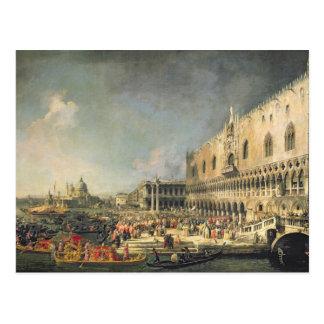Carte Postale La réception de l'ambassadeur français à Venise,