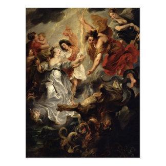 Carte Postale La réconciliation de Marie de Medici et elle