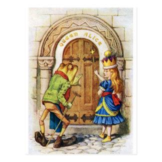 Carte Postale La Reine Alice et la grenouille au pays des