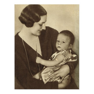 Carte Postale La Reine Astrid de la Belgique avec prince Albert