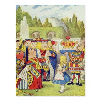 """Carte Postale La reine est venue ! Et n'est pas elle fâchée. """""""