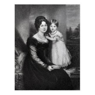 Carte Postale La Reine Victoria en tant que nourrisson avec sa