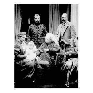 Carte Postale La Reine Victoria, tsar Nicholas II