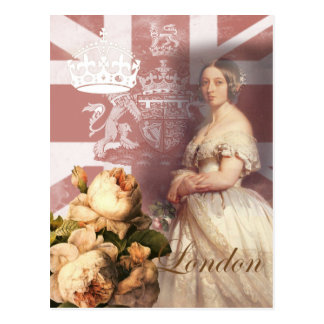 Carte Postale La Reine vintage Victoria Londres