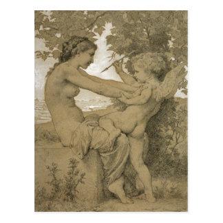 Carte Postale La résistance de l'amour par Bouguereau