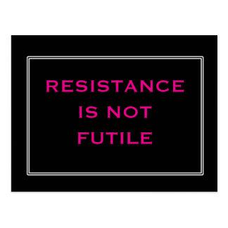 Carte Postale La résistance n'est pas noire et rose futiles