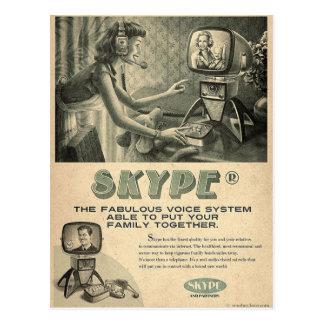 Carte Postale La rétro annonce sociale de médias de Skype