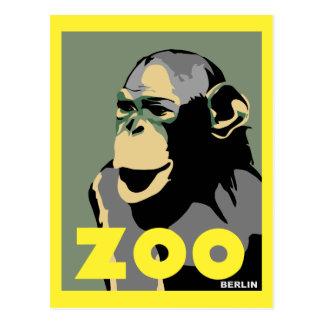 Carte Postale La rétro publicité de voyage de singe de Berlin de