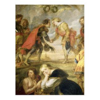Carte Postale La réunion de Ferdinand II