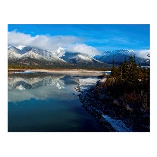 Carte Postale La rivière d'Athabasca en parc national de jaspe