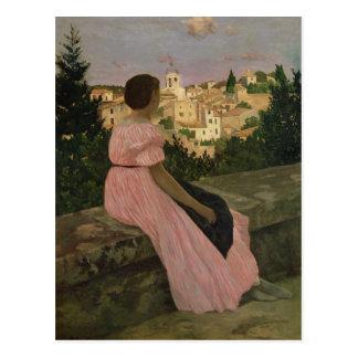 Carte Postale La robe rose, ou vue de Castelnau-le-Lez