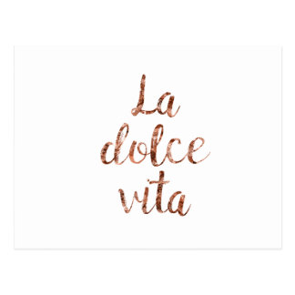 Carte Postale La rose Dolce Vita d'or