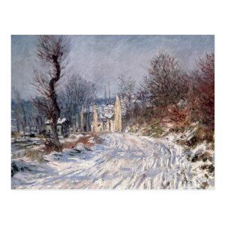 Carte Postale La route à Giverny, hiver, 1885