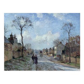 Carte Postale La route à Louveciennes, 1872