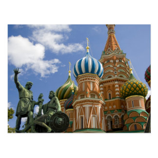 Carte Postale La Russie, Moscou, carré rouge. St Basil 3