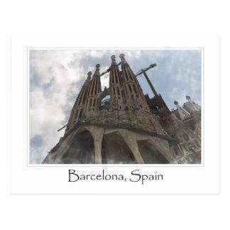 Carte Postale La Sagrada Familia à Barcelone Espagne