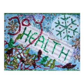 Carte Postale La santé est collage de richesse