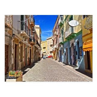 Carte Postale La Sardaigne - rue principale dans Carloforte
