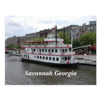 Carte Postale La savane, façade d'une rivière de la Géorgie