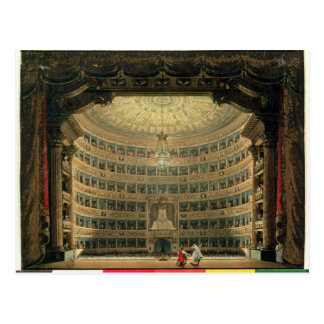 Carte Postale La Scala, Milan, pendant une représentation