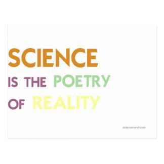 Carte Postale La Science est la poésie de la réalité