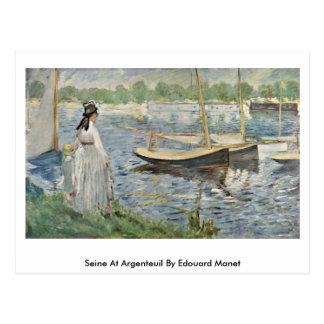 Carte Postale La Seine à Argenteuil par Edouard Manet