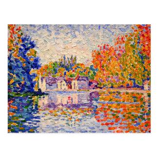 Carte Postale La Seine par Paul Signac