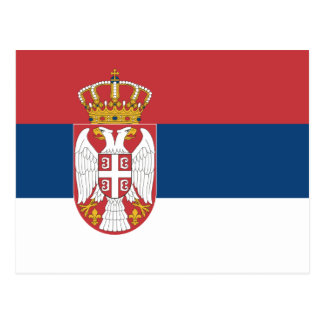 Carte Postale La Serbie - drapeau serbe