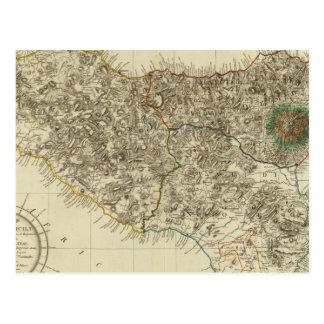 Carte Postale La Sicile, Italie