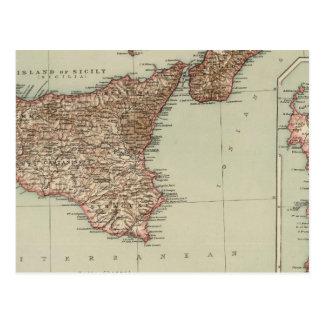 Carte Postale La Sicile, Sardaigne